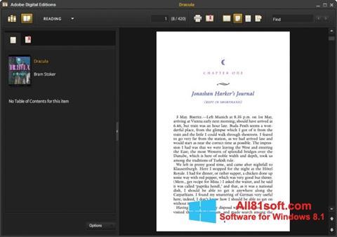Screenshot Adobe Digital Editions for Windows 8.1