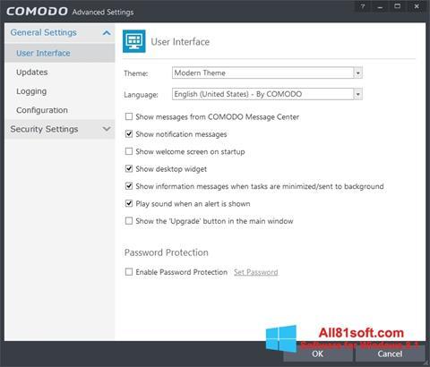 Screenshot Comodo Internet Security for Windows 8.1
