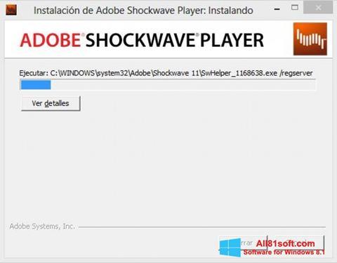 Screenshot Adobe Shockwave Player for Windows 8.1