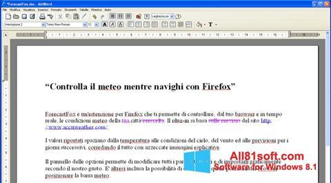 Screenshot AbiWord for Windows 8.1
