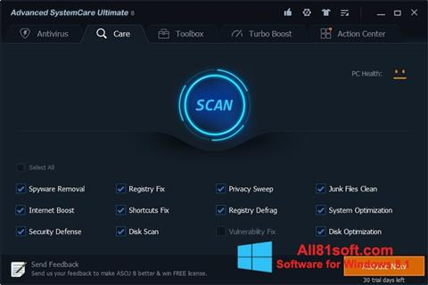 Screenshot Advanced SystemCare Ultimate for Windows 8.1