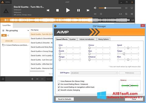 Screenshot AIMP for Windows 8.1