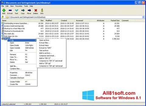 Screenshot 7-Zip for Windows 8.1