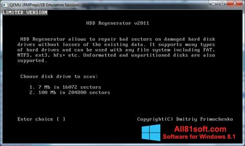 Screenshot HDD Regenerator for Windows 8.1