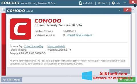 Screenshot Comodo for Windows 8.1