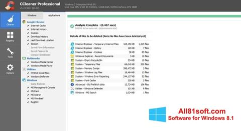 Screenshot CCleaner Professional Plus for Windows 8.1