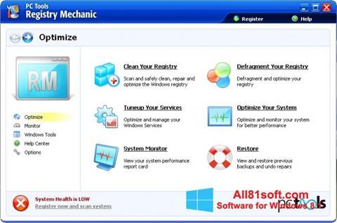Screenshot Registry Mechanic for Windows 8.1