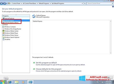 Screenshot Outlook Express for Windows 8.1