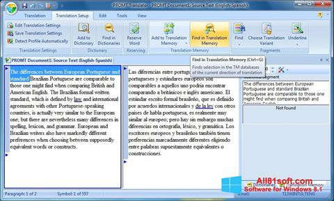 Screenshot PROMT for Windows 8.1