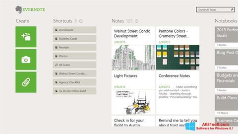 Screenshot Evernote for Windows 8.1
