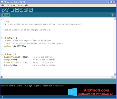 Screenshot Arduino for Windows 8.1