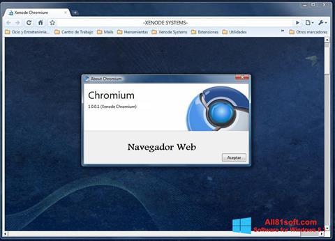 Screenshot Chromium for Windows 8.1