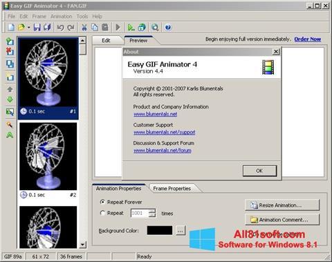 Screenshot Easy GIF Animator for Windows 8.1