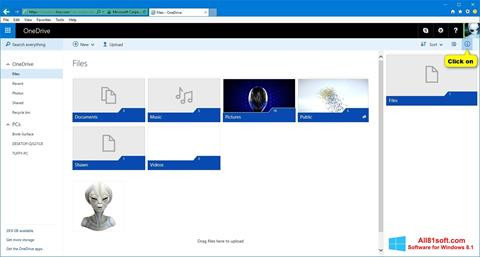 Screenshot OneDrive for Windows 8.1