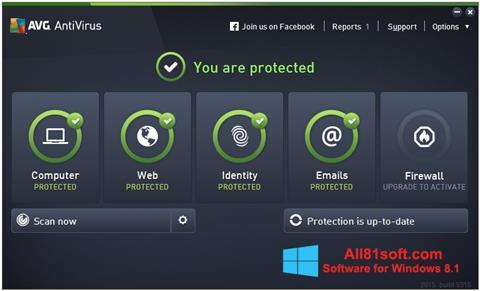 Screenshot AVG AntiVirus Pro for Windows 8.1