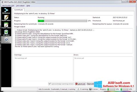 Screenshot MKVToolnix for Windows 8.1