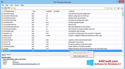Screenshot ActivePerl for Windows 8.1