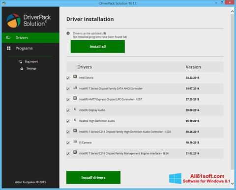Screenshot DriverPack Solution for Windows 8.1