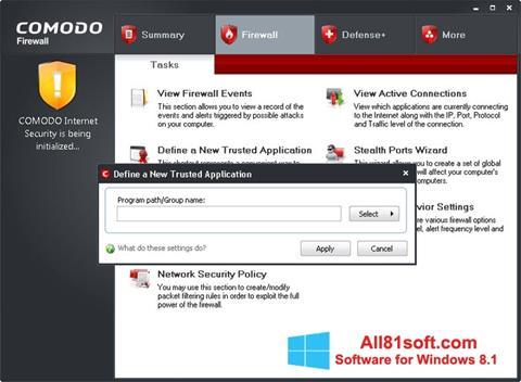Screenshot Comodo Firewall for Windows 8.1