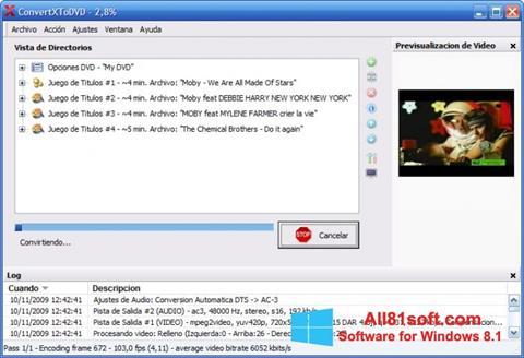 Screenshot ConvertXToDVD for Windows 8.1