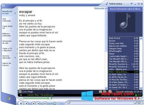 Screenshot Windows Media Player for Windows 8.1