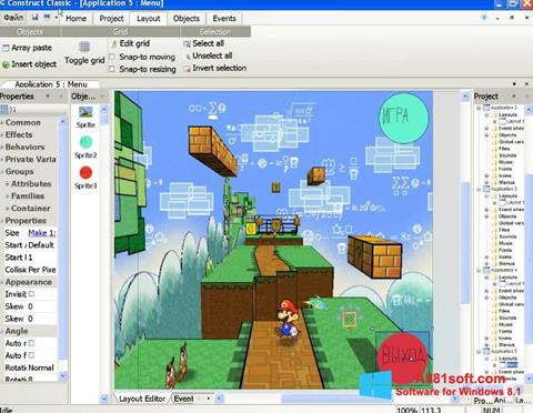 Screenshot Construct Classic for Windows 8.1