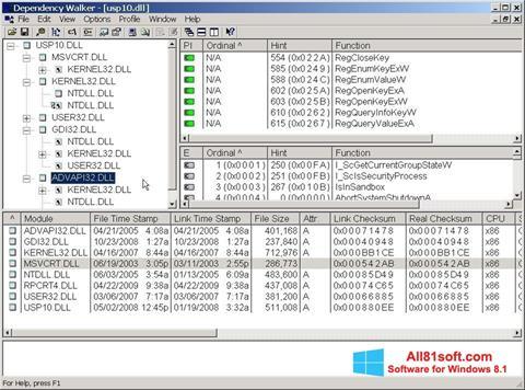 Screenshot Dependency Walker for Windows 8.1