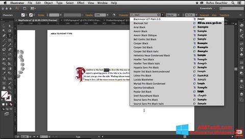 Screenshot Adobe Illustrator for Windows 8.1