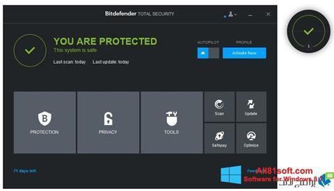 Screenshot Bitdefender for Windows 8.1