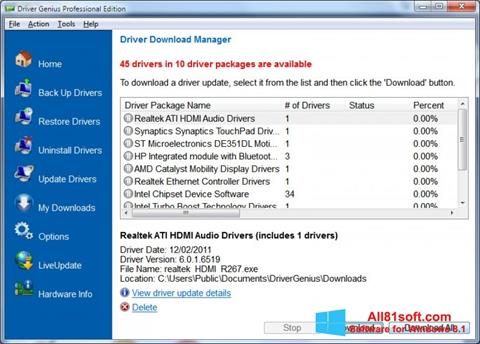 Download Driver Genius Professional for Windows 8 1 (32/64