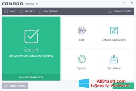 Screenshot Comodo Antivirus for Windows 8.1