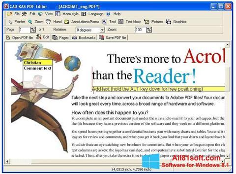 Screenshot PDF Reader for Windows 8.1