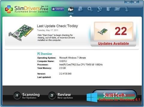 Screenshot SlimDrivers for Windows 8.1