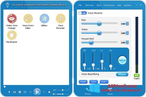 Screenshot AV Voice Changer Diamond for Windows 8.1