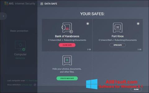 Screenshot AVG Internet Security for Windows 8.1