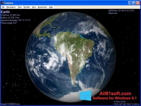 Screenshot Celestia for Windows 8.1