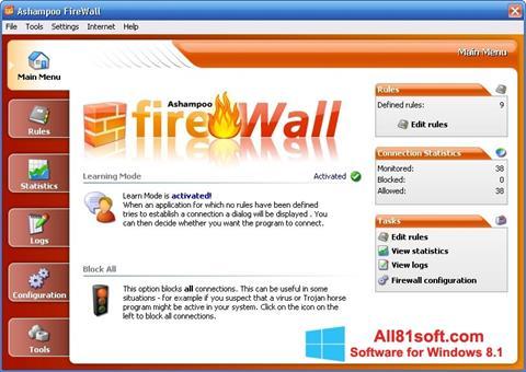 Screenshot Ashampoo Firewall for Windows 8.1