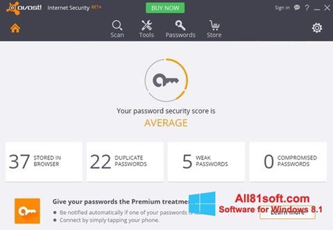 Screenshot Avast Internet Security for Windows 8.1
