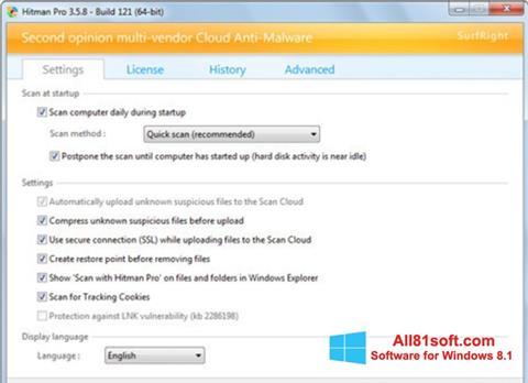 Screenshot HitmanPro for Windows 8.1