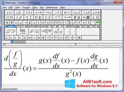 Screenshot MathType for Windows 8.1