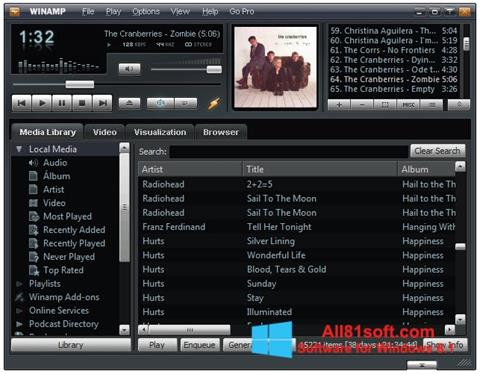 Screenshot Winamp for Windows 8.1