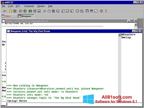 Screenshot mIRC for Windows 8.1