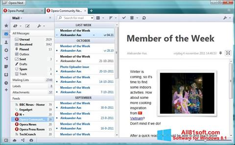 Screenshot Opera Mail for Windows 8.1