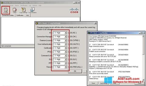 Screenshot Cisco VPN Client for Windows 8.1