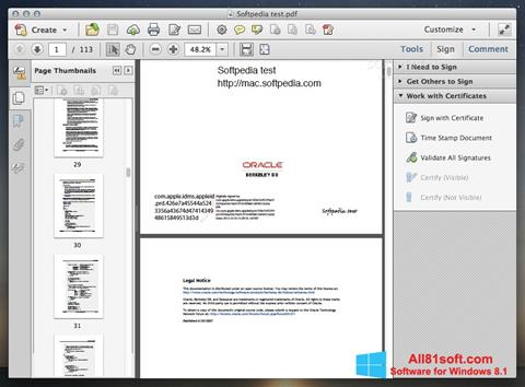 Screenshot Adobe Acrobat for Windows 8.1