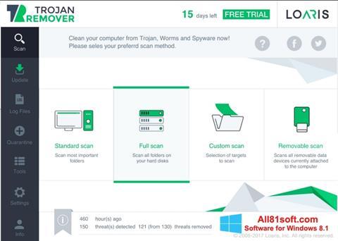 Screenshot Loaris Trojan Remover for Windows 8.1