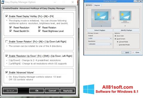 Screenshot Easy Display Manager for Windows 8.1