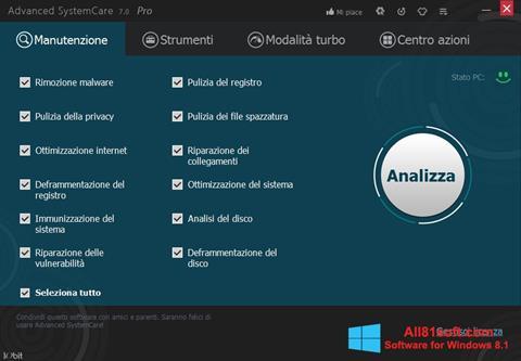 Screenshot Advanced SystemCare Pro for Windows 8.1