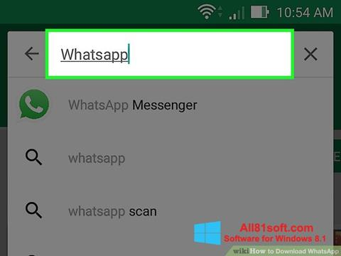 Screenshot WhatsApp for Windows 8.1