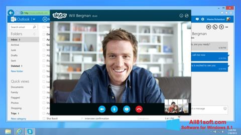 Screenshot Skype for Windows 8.1